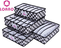 Wholesale Organizer Panties - Wholesale- LOAAO Fashion foldable organizer box hot home storage bag underwear socks panties bra storage box organizer