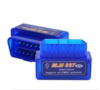 50pcs / Lot neueste Version V2.1 Super MINI ELM327 Bluetooth ISO OBD / OBD2 drahtloses ELM 327 Arbeiten AN Android / XP / WIN7 System