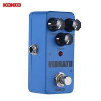 Wholesale Guitar Vibrato - KOKKO VIBRATO Mini Tremolo Electric Guitar Effect Pedal True Bypass Full Metal Shell