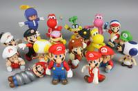 özgür luigi bebekleri toptan satış-Mario Bros Luigi eşek kong youshi mario şeftali Aksiyon Figürleri PVC Bebek Karışık stil Ücretsiz kargo E1922