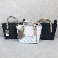 Wholesale tote bag pattern free for sale - Group buy 2017 Top quality famous Brand women Printed fashion mini bag Delaney Cross pattern Petite Tote Handbag With Crossbody Strap