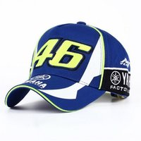 Wholesale 3d letter snapback - High Quality MOTO GP 46 Motorcycle 3D Embroidered F1 Racing Cap Men Women Snapback Caps Rossi VR46 Baseball Cap YAMAHA Hats