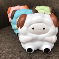 Wholesale Animal Sheep - 3 PCS Jumbo 14cm Super Slow Rising Squishy Big Cute Sheep Bread Charms Animal Scented Bread Cake Kid Toy