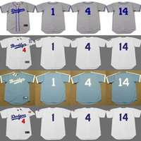 Wholesale Men Weeding - Cheap 1 PEE WEE REESE 4 DUKE SNIDER 14 GIL HODGES 39 ROY CAMPANELLA Brooklyn Dodgers Cooperstown Throwback Jersey stitched