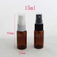 Wholesale Empty Bottle Perfume 15ml Spray - brown empty Mini refillable perfume atomizer bottle spray 15ml,perfume atomizer bottles spray,empty vial,1 2 OZ spray bottle