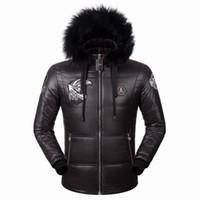 Wholesale Chiffon Print Jacket - Wholesale- Winter Jackets Men Parkas size M-3XL skulls brand clothing fashion casual men coats Thick warm 72220