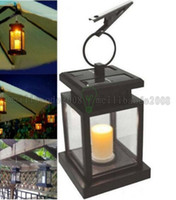 Wholesale Clamp Umbrella - Vintage Solar Powered Lamp Waterproof Hanging Umbrella Lantern Candle Lights Led with Clamp Beach Umbrella Tree Garden Yard Lawn Lighting MY