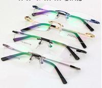 kadın için optik çerçeve toptan satış-Perakende 1 adet çerçevesiz optik çerçeveleri erkekler / kadınlar reçete 1105 için moda gözlük