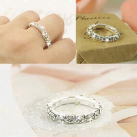 Wholesale Elastic Fashion Ring - Big Promotions !120 pcs Rhinestone white Fashion Finger Rings Silver Crystal Toe Ring Elastic Body Jewellery Cheap wholesale
