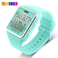 Wholesale Mens Colorful Sport Watches - Watch SKMEI Fashion Design Summer Outdoor Sports Waterproof Colorful LED Digital Mens Womens Students Classic Wristwatches Brands Top