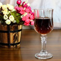 Wholesale Glass Fruit Decoration - Red Wine Cup Diamond Cup Fruit Drink KTV Bar High White Glass Home Furnishings 204ml 317g