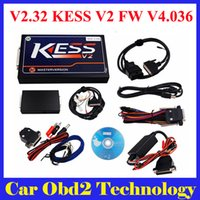 Wholesale Ecu Master - DHL Free Newest V2.32 KESS V2 Firmware V4.036 KESS V2 OBD2 Manager Tuning Kit Master Version with Unlimited Token