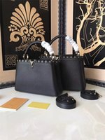 Wholesale High End Leather Bags Wholesale - 2017 new style brand fashion leather high-grade simple delicate socialite handbag totes luxury high-end shopping bag saffiono OL women bag