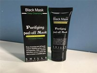 Wholesale Charcoal Remove Blackhead - DHL shills charcoal Black Suction Mask Anti-Aging 50ml Deep Cleansing purifying peel off Black face mask Remove blackhead Peel Masks