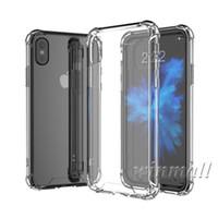 ingrosso iphone cristallo duro indietro-Custodia trasparente per iPhone X XS Max iPhone XR Samsung S9 Plus Cuscino Soft Air TPU + Cover posteriore in acrilico