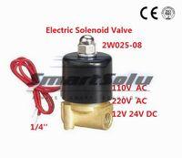 """Wholesale Pressure Solenoid - 2way 2position 1 4"""" Electric Solenoid Valve Water Air N C Gas Water Air 2W025-08"""