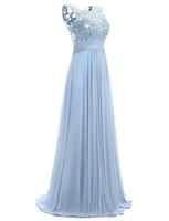 vestido sexy com uma alça venda por atacado-Azul vestido de baile Cap manga 2019 Robe Ceremonie Femme longo elegante vestidos de noite até o chão vestidos de festa