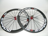 Wholesale carbon fiber road bike rims - 23mm width full carbon fiber road bike wheels carbon wheelset 700c rims carbon bicycle wheels clincher 50mm powerway R36 hubs