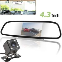4.3 pouces Car Mirror Monitor couleur Digital TFT-LCD Screen + Backup Camera Kit CMO_334