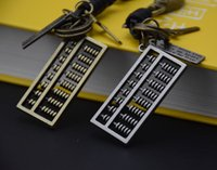 Wholesale Chinese Wholesale Key Rings - new cool mathematical calculation through abacus Chinese Zhusuan charm key chain key rings for bags or car key