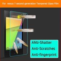 Wholesale Asus Nexus Screen Protector - Wholesale- 9H 2.5D Tempered Glass Screen Protector Film For Asus Razor Me571K Me571KL For Google Nexus 7 2013 Anti-Shatter Glass Film Guard