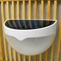 Waterproof 6 LED de luz de energia solar Sensor Wall Light Outdoor Garden Fence Lamp Outdoor Walkway Path Lights