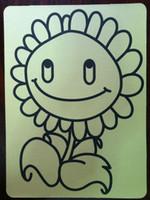 Wholesale Sand Art Sticker Cards - Wholesale- 15x21cm yellow sticker cards for Sand art