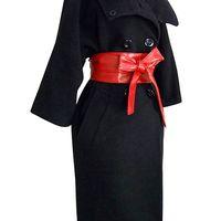 Wholesale Cinch Wrap - Wholesale- Women's Faux Leather Bowknot Wrap Corset Tie Cinch Waist Belt Band Waistband