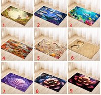 Wholesale Carpet Door Mats Wholesale - 3D Cartoon Home Door Floor Mats Hall Rugs Kitchen Bathroom Carpet Decor anti-slip mats wholesale free shipping DHL