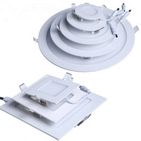 Wholesale industrial design for sale - Group buy LED Ceiling Recessed Downlight Round Panel Light Ultra Thin Design W W W W W Indoor lighting AC100 V CE UL years warranty