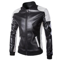 Wholesale Leather Motorcycle Jacket Small - New Men's clothing Plus size Men Leather Jacket Male Bomber Motorcycle Biker Man Coat