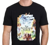 Wholesale Army Posters - Western Style Short The Neverending Story 2 Vintage Movie Poster Men Printing O-Neck Shirt