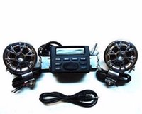 Wholesale New Waterproof Motorcycle ATV UTV Bike Audio System Handlebar FM Radio iPod Stereo