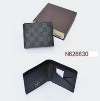 Wholesale Mens Business Casual - 2018 Mens Brand Leather Wallet, Men's Genuine Leather With Wallets For Men Purse Wallet Men Wallet Cowhide free shipping