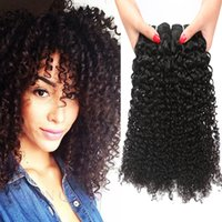 Wholesale Malaysian 3pc - Grade 8A Malaysian Virgin Hair Weave Malaysian Kinky Curly Virgin hair 3pc Cheap kinky Curl Brazilian Human Hair Extensions KINKY Curly Wave