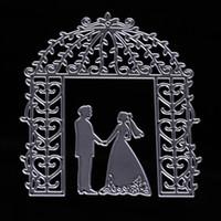 Wholesale Photo Album Diy Craft - Metal Men Women Wedding Cutting Dies Stencil Craft Supplies For DIY Scrapbooking Album Paper Card Photo Decorative Craft Paper Craft