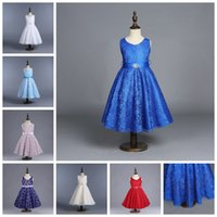 Wholesale Chiffon Grown - girls dress baby girls wedding dresses four-layer lace tutu skirts with jewel for kids backless party dress child prom grown pleated skirt