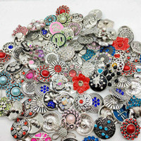 Wholesale Diy Acrylic Sets - Wholesale 100pcs Lot Mix Style Snap Cham Button Interchangeable 18mm Diy Ginger Snap Jewelry Fit Snap Charm Bracelets Pendant Ring Etc