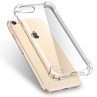 Wholesale Wholesale Air Shocks - For iphone X 8 7 plus clear case air cushion anti-shock tpu phone case cover transparent soft Silicone phone case for iphone 6s plus