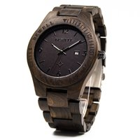 Wholesale Mens Wooden - Natural Wood Watch for Gentlemen Japan Quartz Movement Mens Wooden Wrist Watches with Black Sandalwood Mixed Style
