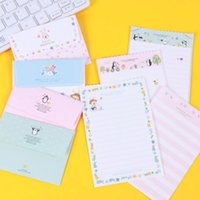 Compra Fornitore Di Uffici-Wholesale- JWHCJ 4 set = (carta da lettera da 16 fogli + buste da 8 pezzi) Mini lettera da lettera con fiore animale Set / set carta da lettere OfficeSchool Supplie