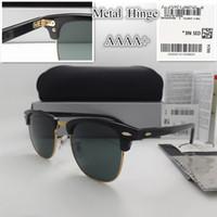 gafas de sol deportivas al por mayor-AAAA + lente de cristal de Calidad 51 MM Diseñador de la Marca Moda Hombres Mujeres Marco de la tabla Recubrimiento Gafas de Sol Deporte gafas de Sol de La Vendimia Con caja