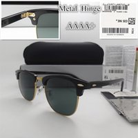 sports coat fashion - AAAA quality Glass lens MM Brand Designer Fashion Men Women Plank frame Coating Sunglasses Sport Vintage Sun glasses With box