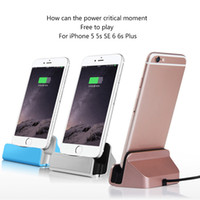 Wholesale Dock Station Android - Wireless Quick Charger Docking Stand Station Cradle Fast Charging Syne Dock for iPhone Android with Retail Box
