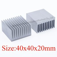 Wholesale Cpu Heat Sinks - Heatsink 40*40*20 MM aluminum heat sink electronic radiator chip CPU cooler fan