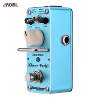 Wholesale Digital Reverb - AROMA AOV-3 Ocean Verb Digital Reverb Electric Guitar Effect Pedal Mini Single Effect with True Bypass