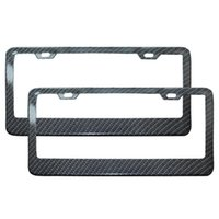 Wholesale Carbon Fiber Plate Frame - Carbon Fiber Adjustable License Frame Black License Plate Frame US Standard Car Styling 3 Styles High Quality