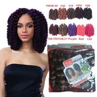 Wholesale Freetress Synthetic Hair - Freetress Wand curly crochet hair Bouncy twist crochet braid Bounce twist 10 inch braids Havana Mambo Twist crochet hair extension