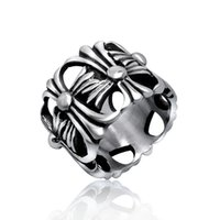 Wholesale Star Punk Rings - Punk star with the same section of Crows Star crossbow domineering ring male personality retro titanium steel Europe and the United States i