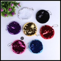 Wholesale Glitter Coin Purses Wholesale - 9 Colors 10cm Sequin Mermaid Coin Purse Mermaid Glitter Handbag Evening Wallet Women's Pouch Chirstmas Gifts CCA8360 50pcs